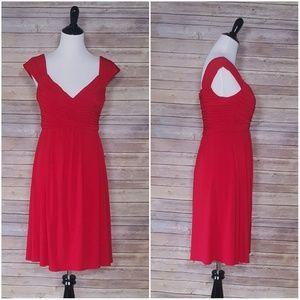 Suzi Chin Red Jersey Dress